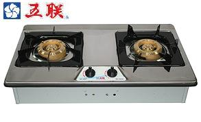 五聯牌瓦斯爐WG-3602A雙銅琺瑯面檯面爐★含安裝★
